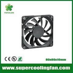 80x80x10mm DC Cooling Fan for LED Board 12v cooling fan