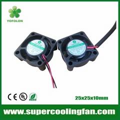 25x25x10mm 5V 12V Mini Cooling Fan 25mm micro dc fan
