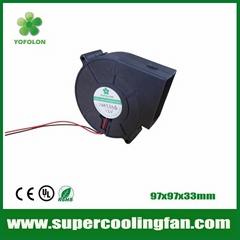 97x97x33mm 12V 24V High flow DC Blower Fan for Car seat cooling blower fan