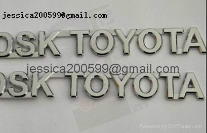 ABS chromed logo car emblem brand logo frame plate anto spare part 1