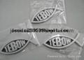 ABS chromed logo car emblem brand logo frame plate anto spare part 3