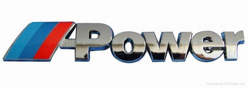 ABS chromed logo car emblem brand logo frame plate anto spare part 5