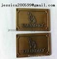 furniture badge brass oval badge