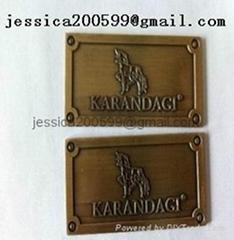 furniture badge brass ov