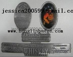 adhesive wine label metal label metal label bottle label embossed sticker