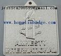 Furniture label  Aluminum name plate adhesive embossed company  logo  1