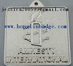 Furniture label  Aluminum name plate adhesive embossed company  logo