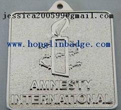 Furniture label  Aluminum name plate adhesive embossed company  logo