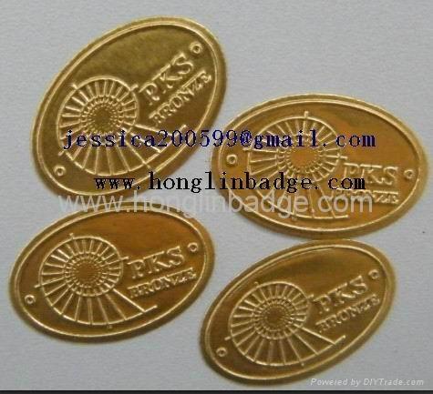 Furniture label  Aluminum name plate adhesive embossed company  logo  3