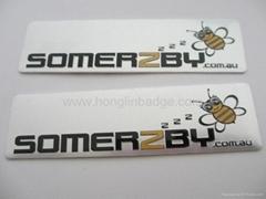embossed metal label custom metal badge Brass furniture label Brass embossed