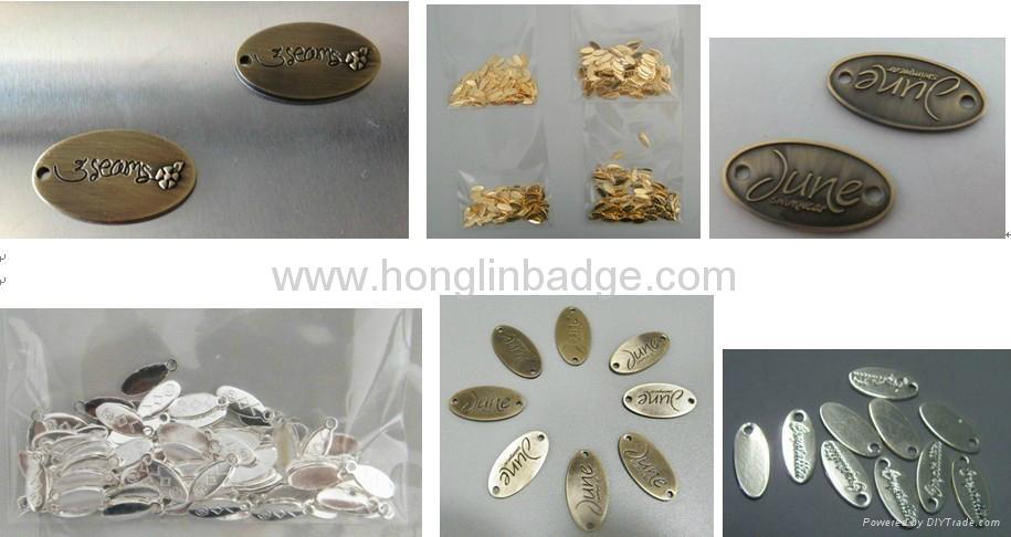 customize metal fruniture label metal label embossed adhesive label Brass label 2