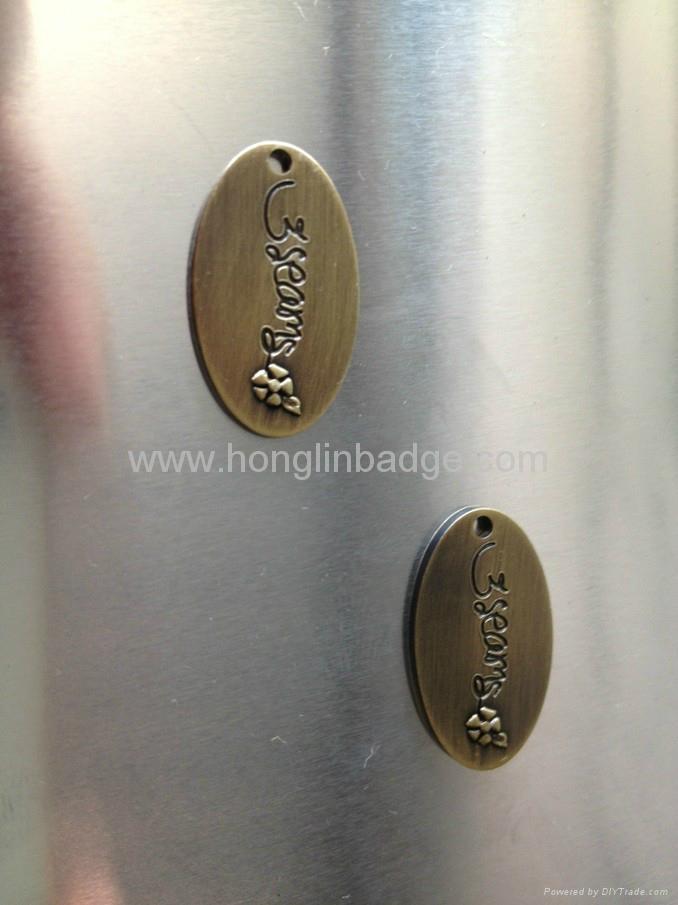 customize metal fruniture label metal label embossed adhesive label Brass label 1