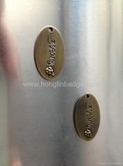 customize metal fruniture label metal label embossed adhesive label Brass label