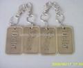 custom dog tag name badge metal plaque