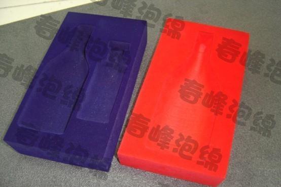 洋酒内衬包装海绵植绒内托 4