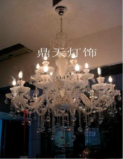 白色欧式水晶灯 纯洁之恋 DTT-10+5A121 1