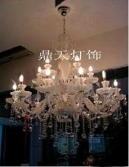 白色欧式水晶灯 纯洁之恋 DTT-10+5A121