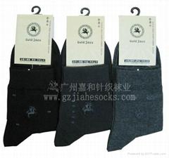 外貿品牌純棉男襪
