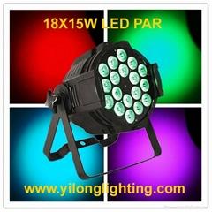18x15w RGBAW 5 in 1 aluminum led par light