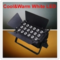 18x6w cool and warm white led light dmx