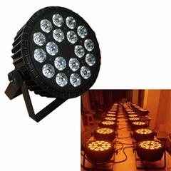 cheap WIFI 18PCS 15W RGBWA par64 wedding decoration led stage lighting