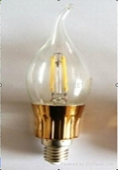 3W COB  E14 LED ball bulb  replaces20w incandescent lamp
