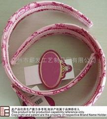 European and American style Satin printing head hoop