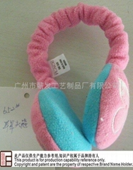 Child cute pink warming ear muffs Headband