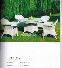 chinese rattan chairs table