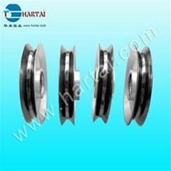 Ceramic coating Aluminium wire guide pulleys