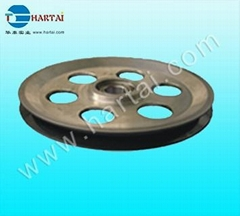 Fine Polish Ceramic Coated Tower Pulley / Aluminum Pulley