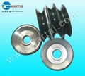 Fine Polish Ceramic Coated Tower Pulley / Aluminum Pulley 4