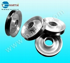 Fine Polish Ceramic Coating Aluminum Idler Pulley for Wire Machinery