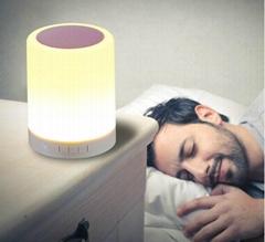 智能LED夜燈臺燈藍牙音箱