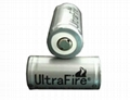 UltraFire 16340 CR123 battery with 3.7V