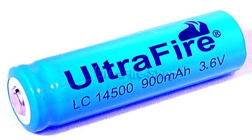 UltraFire 14500 AA sized 3.6V Li-Ion Rechargeable Battery 900 mAh 1