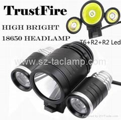 Hot Sell TrustFire D003 Cree XML T6 + 2*XPE R2 1800Lumen Bicycle Light Headlamp