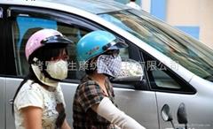 防PM2.5过滤口罩(抽换过滤复合抗菌口罩 炭片呼吸阀)