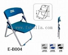 带写字板塑钢电镀不锈钢折叠椅