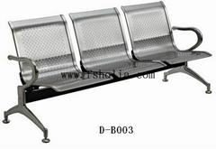 不鏽鋼電鍍軟座機場車站椅
