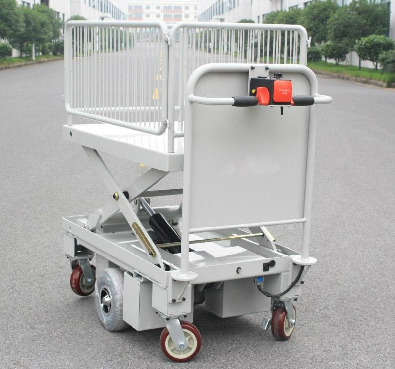 Electric Motorcycle Scissor Lift Table with One Cylinder & Wire Fence 3