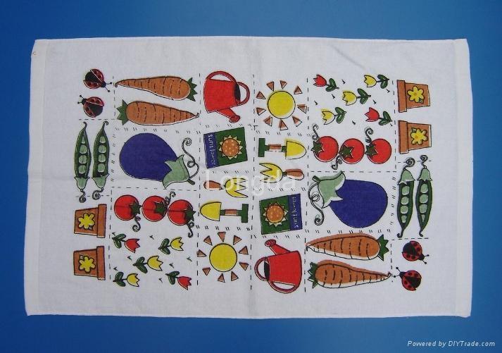 100 cotton printed velour kitchen tea towel ldkt 001 oem