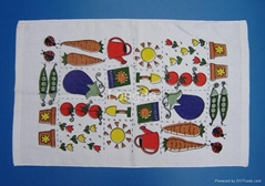 100% Cotton Printed Velour Kitchen Tea Towel
