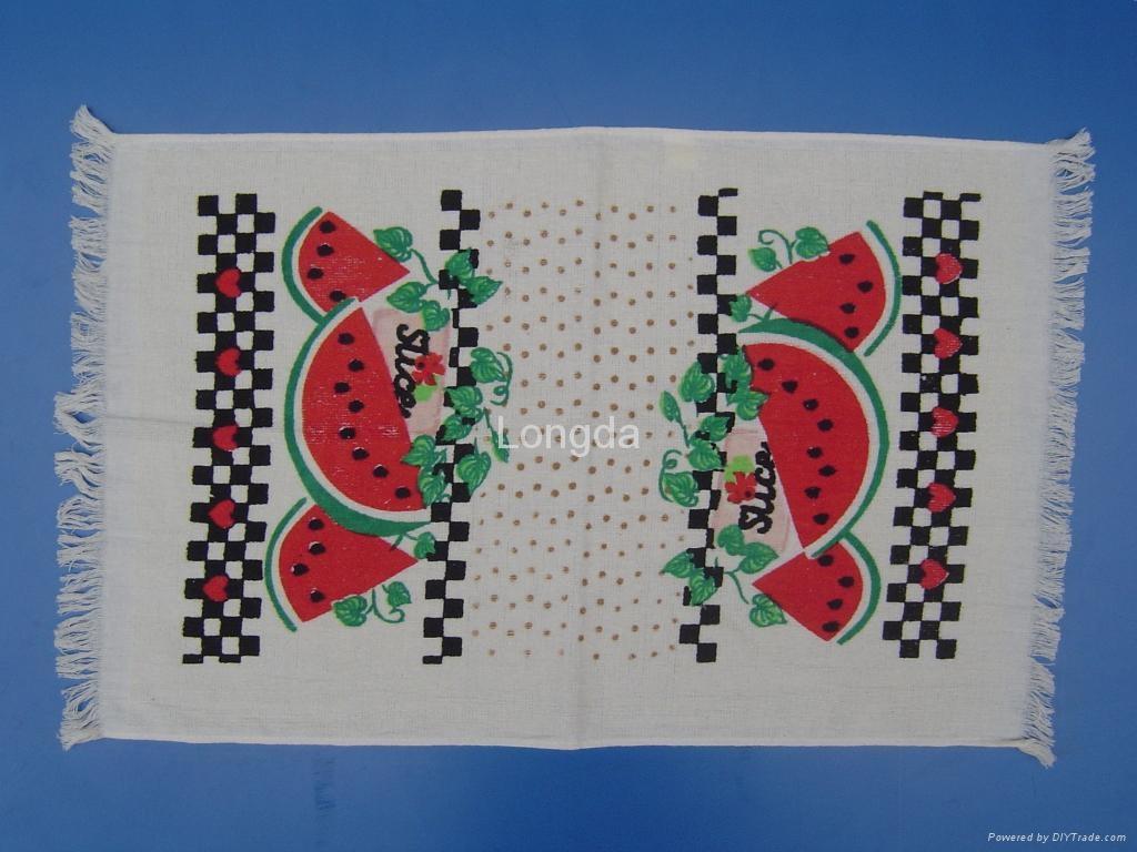 Cotton Printed Velour Kitchen Tea Towel 1