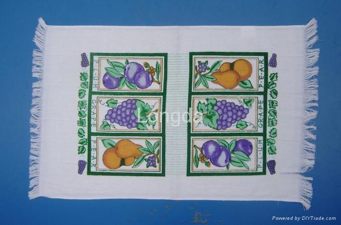 Cotton Printed Velour Kitchen Tea Towel 2