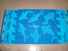 Cotton Yarn Dyed Jacquard Beach Towel