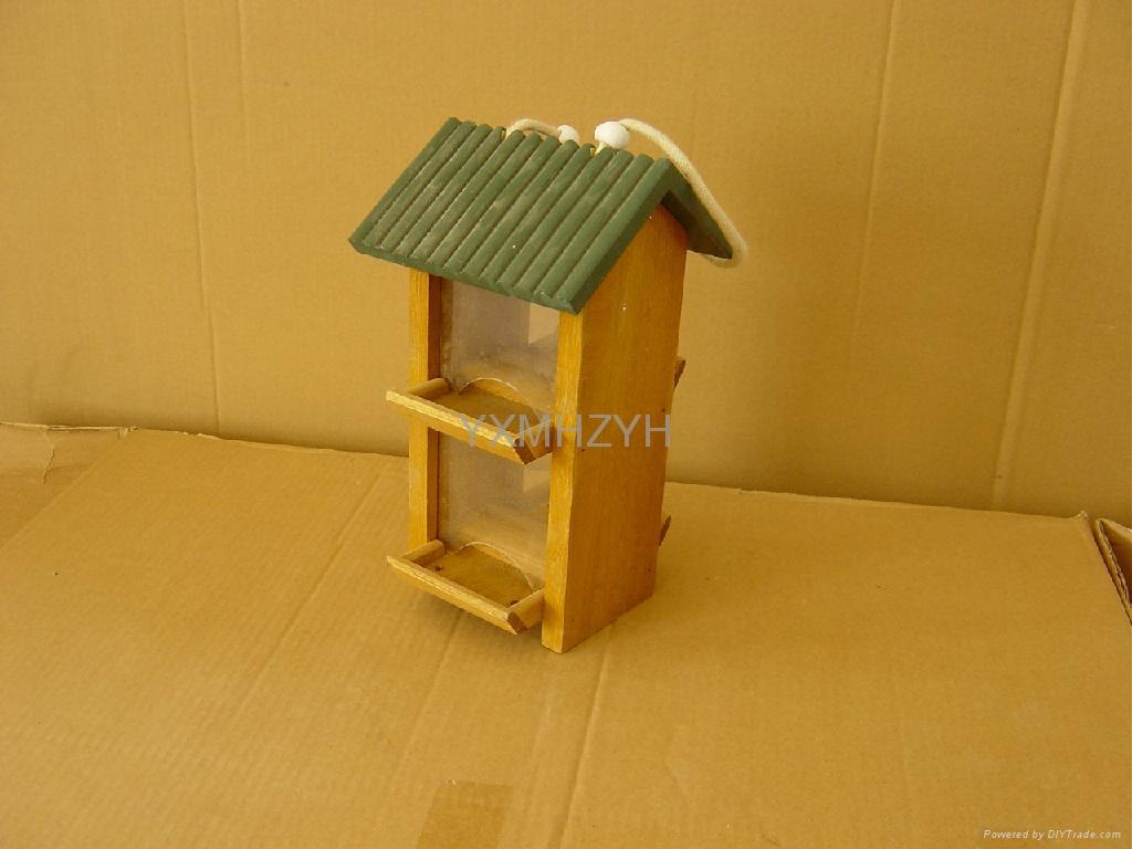 wooden bird feeder 1