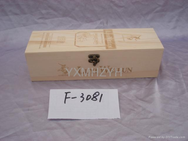 wooden wine box with carving 1