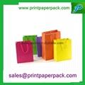 Color Printed Cosmetic Jewelry Fashion Handbag Paper Shopping Gift Bag