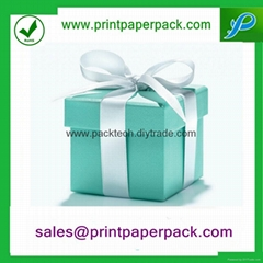 Colorful Customized Jewelry Cosmetic Favor Paper Gift Box
